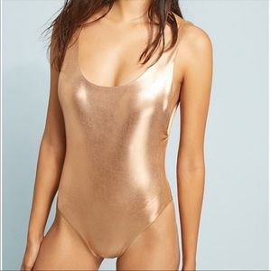Dolce Vita Gold One Piece Swimsuit